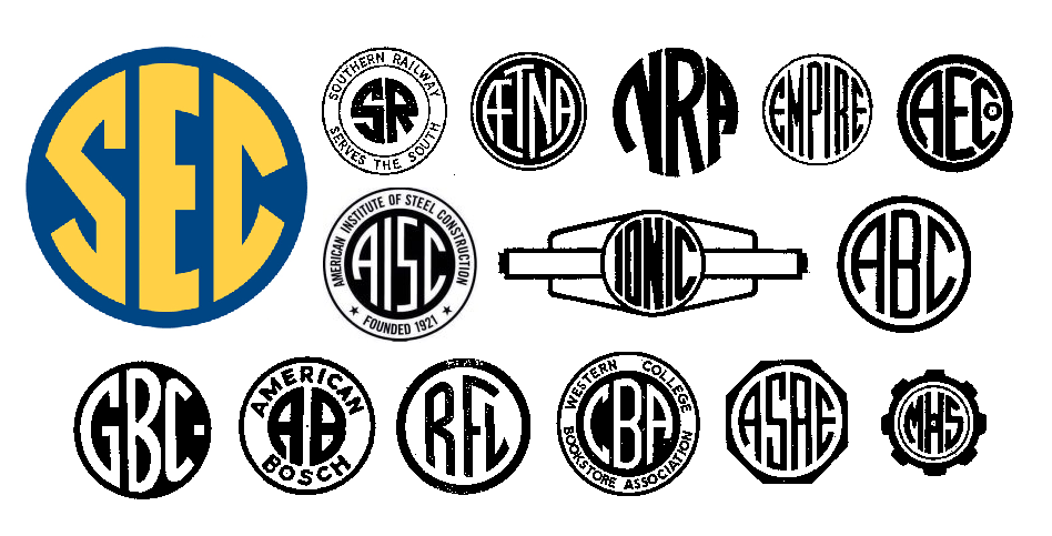 the sec succeeds with an antimodern logo � emblemetric