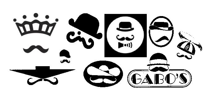 mustache face logos