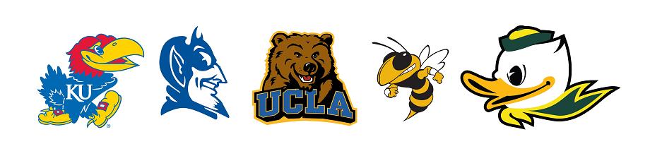 smiling mascot logos